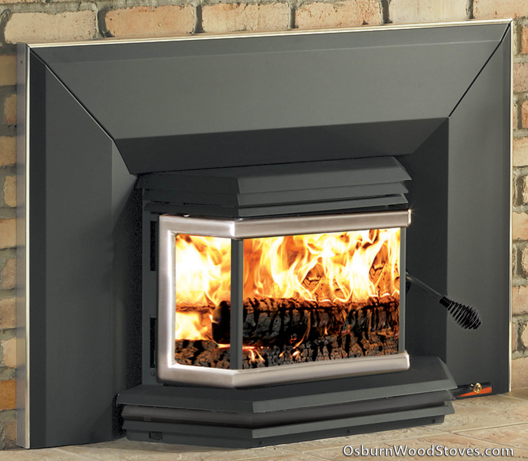 Osburn 1800 fireplace insert. Purchase your Osburn 1800 fireplace insert from OsburnWoodStoves.com. The Osburn 1800 will heat a home up to 1800 square feet. The Osburn 1800 is a 65